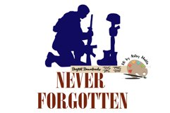 Never Forgotten SVG Fallen Soldier, Memorial day, July 4th Product Image 2