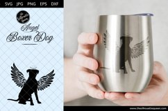 Boxer Dog #7 with Wings SVG, Pet Memorial, RIP Angel Product Image 4