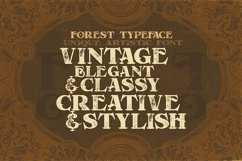Forest - Display Font Product Image 5