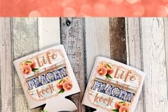 Life is Just Peachy Keen 300DPI PNG Printable Digital Design Product Image 3