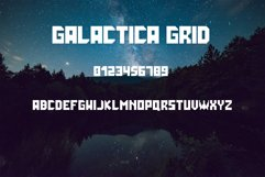 Galactica Space Grid Font Product Image 1