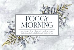FOGGY MORNING. Watercolor cliparts. Product Image 1