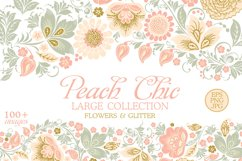 Glitter Floral Peach chic collection. 50% off Product Image 1