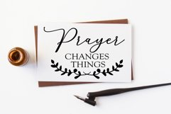 Prayer Changes Everything Christian Saying Wall Sign SVG Product Image 2