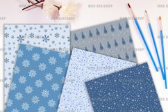 Winter Snow Digital Paper Product Image 2