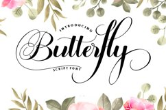 Butterfly Script Product Image 1