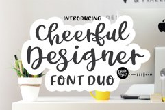 CHEERFUL DESIGNER Script Sans Hand Lettered Font Duo Product Image 1