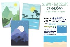 Summer landscape creator in abstract vector. Product Image 1