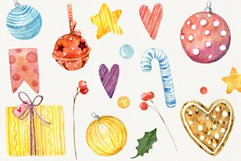 Magic Christmas. Watercolor cartoon cliparts Product Image 4