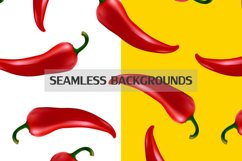 Chilli pepper - vector set . Product Image 3