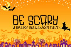 Be Scary - A Hand-Lettered Halloween Font Product Image 1