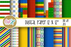 Funny blocks font for building blocks party Product Image 2