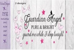 Guardian angel svg, Angel quote, Nursery wall svg, Product Image 2