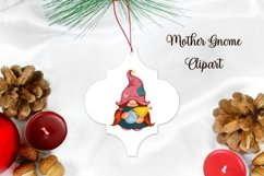 Gnome Mother png/ mom with baby/ breastfeeding clipart/ gift Product Image 2