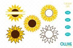 Sunflower Monogram SVG Bundle Product Image 1