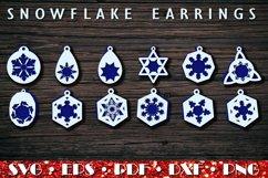 Christmas earrings SVG, Snowflake Earrings Product Image 1