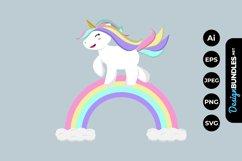 Rainbow Unicorn Clipart Product Image 1