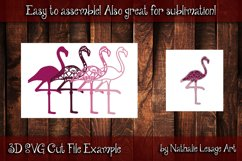 3D Mandala Pink Flamingo 4 Layers File Sublimation SVG Product Image 2