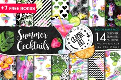 Summer Cocktails Seamless Pattern Product Image 1
