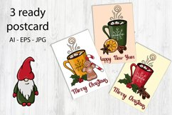 Happy winter holiday collection. Patterns,cliparts,postcards Product Image 3