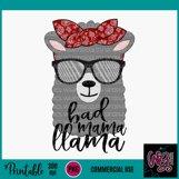 Bad Mama Llama Sublimation Printable Product Image 2
