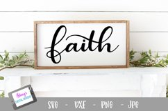 Faith SVG - Religious SVG, Christian SVG file Product Image 1
