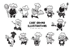 Chef Gnome Illustrations Product Image 1