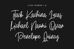 Jetha Crimson Signature Brush Font Typeface Product Image 4