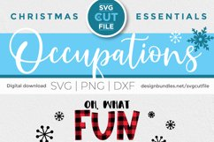 Christmas Nurse Practitioner svg - np svg - oh what fun Product Image 6