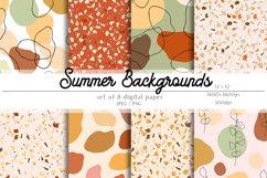Summer Digital Paper Set - Summer Backgrounds Product Image 1
