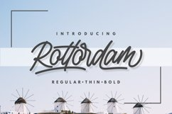 Rottordam - Regular, Thin, and Bold Product Image 1