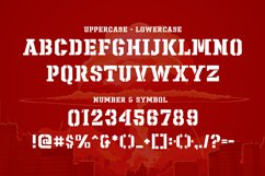 Sharpshooter - Military Stencil Font Product Image 3