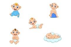 Set of Ten Cartoon Little Babies Character Product Image 2