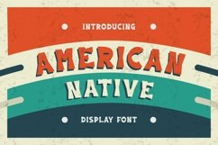 Web Font American Native Font Product Image 1