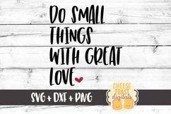 Do Small Things With Great Love - Love SVG File Product Image 1