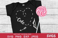 Kids valentines svg | cute heart svg | Cupid arrow svg Product Image 1