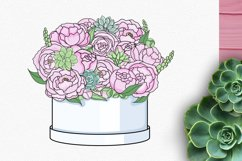 Peonies and Succulents Product Image 3