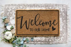 Doormat - Sign - Family - Welcome To Our Home SVG Product Image 2