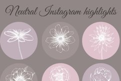 Pastel Flower instagram highlight icons, trendy stories Product Image 5