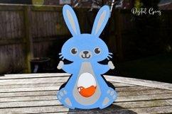 Bunny Rabbit Easter egg holder design SVG / DXF / EPS files. Product Image 3