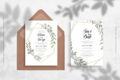 Geometric Foliage Wedding Invitation Suite Product Image 2