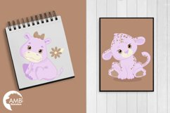 Jungle Babies in lavender clipart, AMB-1212 Product Image 5