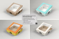 Paper Tapered Window Boxes Packaging Mockup Product Image 3