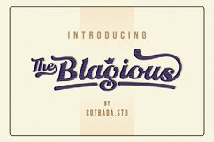 The Blagious Bold Script Product Image 2
