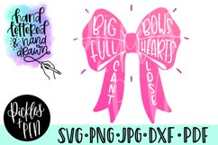 big bow svg - full hearts cant lose svg - girls bow svg Product Image 1