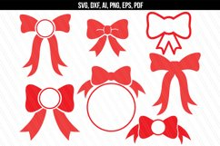 Bow monogram svg dxf cutting files Product Image 1