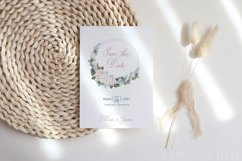 White Pink Flowers Winter Leaves Wedding Bride Clipart Product Image 6
