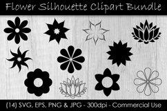 Flower SVG Bundle - Flower Clip Art - Flower Silhouettes Product Image 1