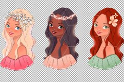 Spring girls. Clipart Product Image 4