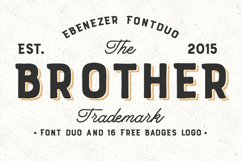 Brother Font Duo + 16 Badges Logo Product Image 1
